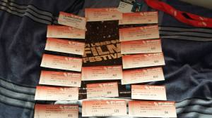 Tickets from all of the 18 public screenings I attended.